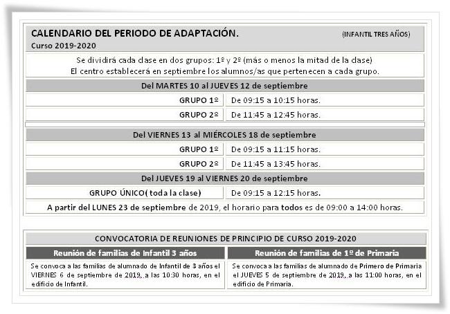 Calendario Escolar Valladolid 2020.Ceip Marina Escobar